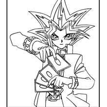 Dibujo Yugi personaje Yu Gi Oh - Dibujos para Colorear y Pintar - Dibujos para colorear MANGA - Dibujos para colorear de YU GI OH - Dibujos para colorear PERSONAJES YU GI OH
