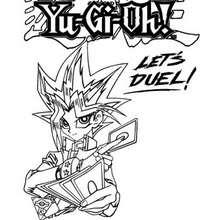 Dibujo logo Yu Gi Oh - Dibujos para Colorear y Pintar - Dibujos para colorear MANGA - Dibujos para colorear de YU GI OH - Dibujos para colorear PERSONAJES YU GI OH