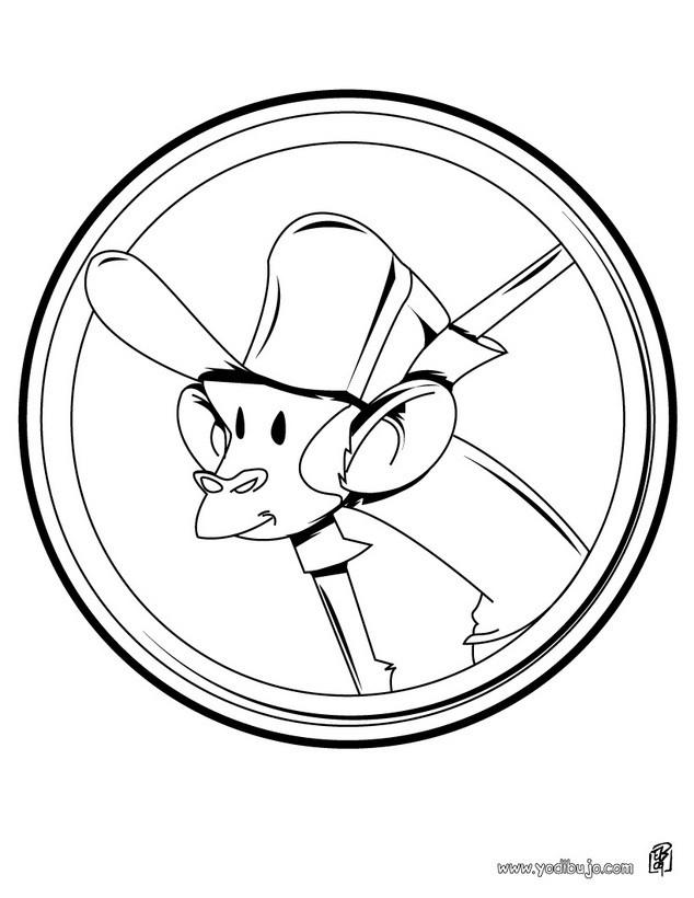 Dibujos para colorear mono  eshellokidscom