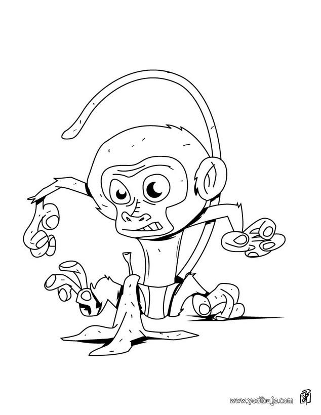 Dibujos para colorear bebe chimpance - es.hellokids.com