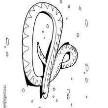 Dibujo serpiente Scarlet - Dibujos para Colorear y Pintar - Dibujos para colorear ANIMALES - Dibujos REPTILES para colorear - Colorear dibujos SERPIENTE - Dibujos para colorear e imprimir SERPIENTE