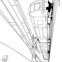 Dibujo de un tren eléctrico - Dibujos para Colorear y Pintar - Dibujos para colorear MEDIOS DE TRANSPORTE - Dibujos para colorear los TRENES - Dibujo TREN ELECTRICO para colorear