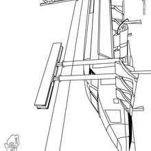Dibujo para colorear : anden del tren AVE