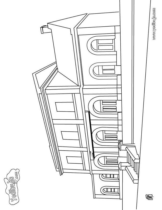 Dibujos ESTACION DE TREN para colorear, una estación de tren para ...