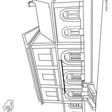 Dibujo para colorear : una estación de tren