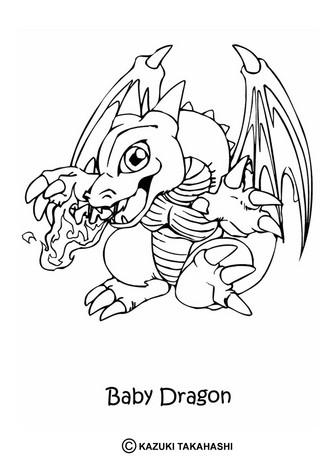 Dibujos para colorear bebe dragon - es.hellokids.com