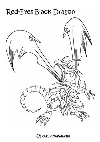 Dibujos para colorear red eyed black dragon - es.hellokids.com