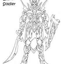 Dibujo soldado black luster soldier - Dibujos para Colorear y Pintar - Dibujos para colorear MANGA - Dibujos para colorear de YU GI OH - Dibujos para colorear PERSONAJES YU GI OH