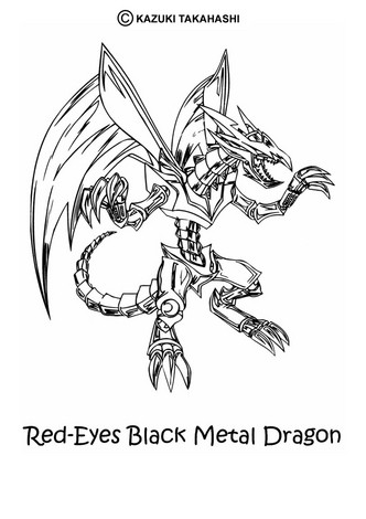 Dibujos para colorear red eyes black metal dragon - es.hellokids.com