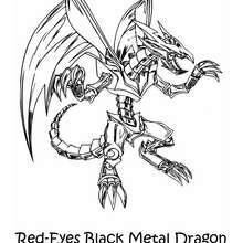 Dibujo red eyes black metal dragon - Dibujos para Colorear y Pintar - Dibujos para colorear MANGA - Dibujos para colorear de YU GI OH - Dibujos para colorear DRAGON YU GI OH