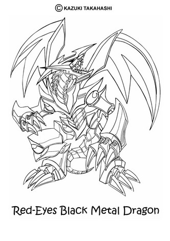 Dibujos para colorear red eyes black metal dragon 2 - es.hellokids.com