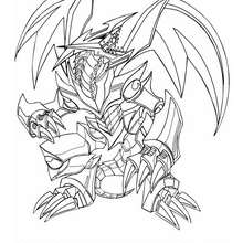 Dibujo para colorear : red eyes black metal dragon 2