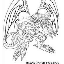 Dibujo para colorear : black skull dragon