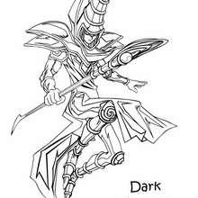 Dibujo dark magician - Dibujos para Colorear y Pintar - Dibujos para colorear MANGA - Dibujos para colorear de YU GI OH - Dibujos para colorear PERSONAJES YU GI OH