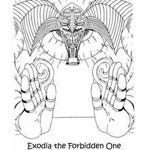 Dibujo para colorear : monstruo exodia the forbidden one