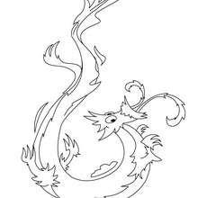 Dibujo para colorear : un dragon medieval