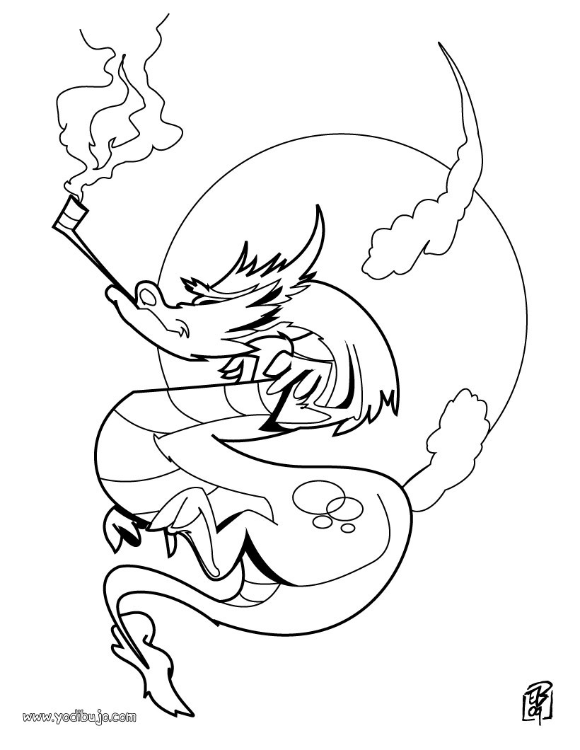 Dibujos para colorear DRAGONES - 41 dibujos de fantasía para ...