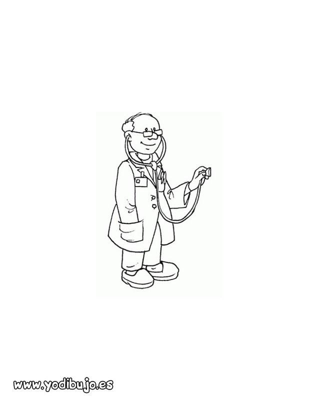 Dibujo para colorear : un médico