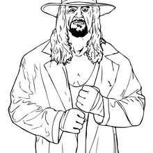 Dibujo para colorear : luchador WWE The Undertaker