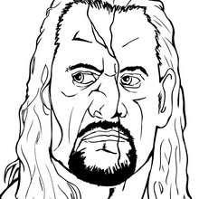 Dibujo para colorear : The Undertaker el luchador WWE