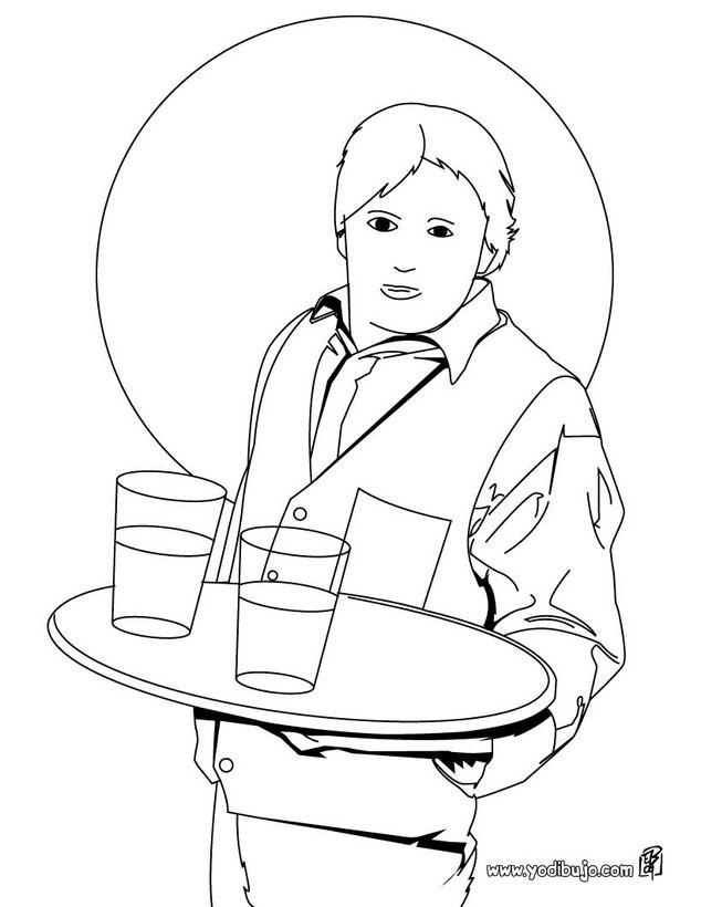 Dibujos para colorear un albañil - es.hellokids.com