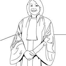 Dibujo de una juez - Dibujos para Colorear y Pintar - Dibujos para colorear PROFESIONES Y OFICIOS - Dibujos de ABOGADO para colorear
