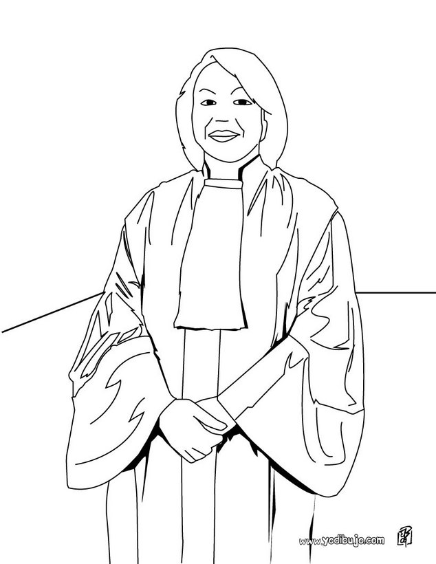 Dibujo para colorear : una juez