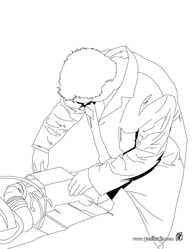 Dibujo para colorear : un mecánico