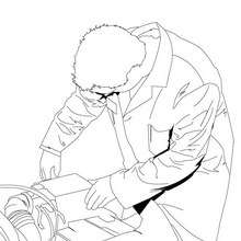 Dibujo de un mecánico - Dibujos para Colorear y Pintar - Dibujos para colorear PROFESIONES Y OFICIOS - Dibujo de MECANICO para colorear