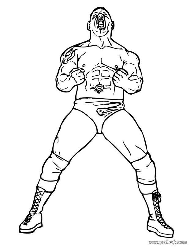 Dibujos para colorear luchador batista - es.hellokids.com
