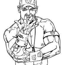 Dibujo para colorear : luchador WWE John Cena