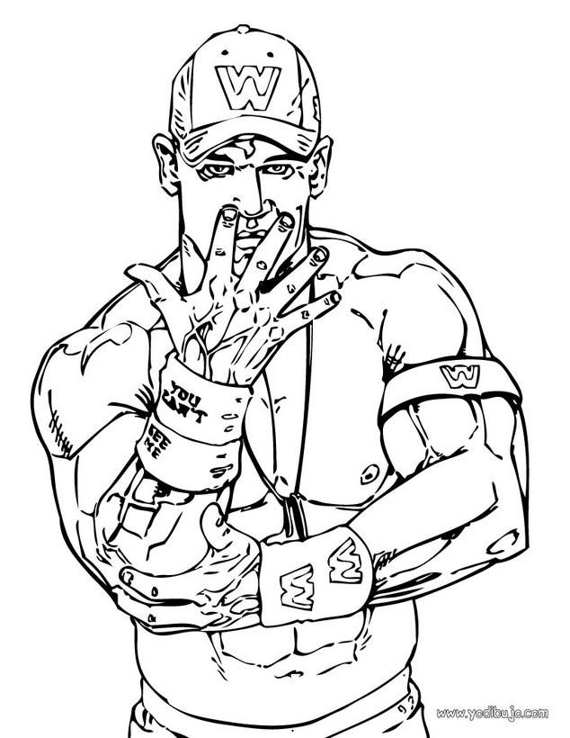 Dibujos para colorear john cena el luchador wwe - es.hellokids.com