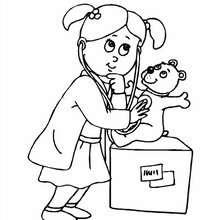 Dibujo de una enfermera - Dibujos para Colorear y Pintar - Dibujos para colorear PROFESIONES Y OFICIOS - Oficios y profesiones: Dibujos para pintar