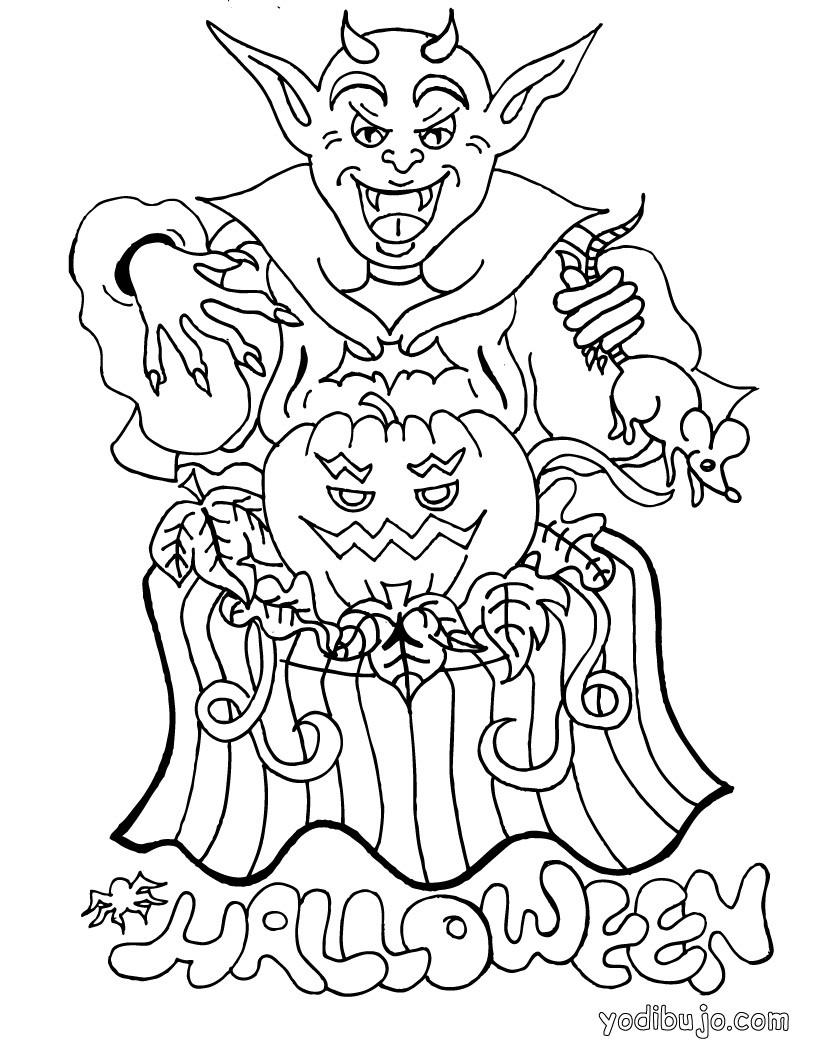 Dibujos para colorear un vampiro de halloween - es.hellokids.com