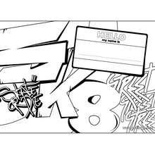 Manualidad infantil : Fabricar un letrero: my name is...
