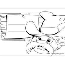 Fabricar un letrero VAQUERO - Manualidades para niños - Manualidades infantiles - Marcadores y letreros muy chulos - Letreros para la puerta de tu cuarto