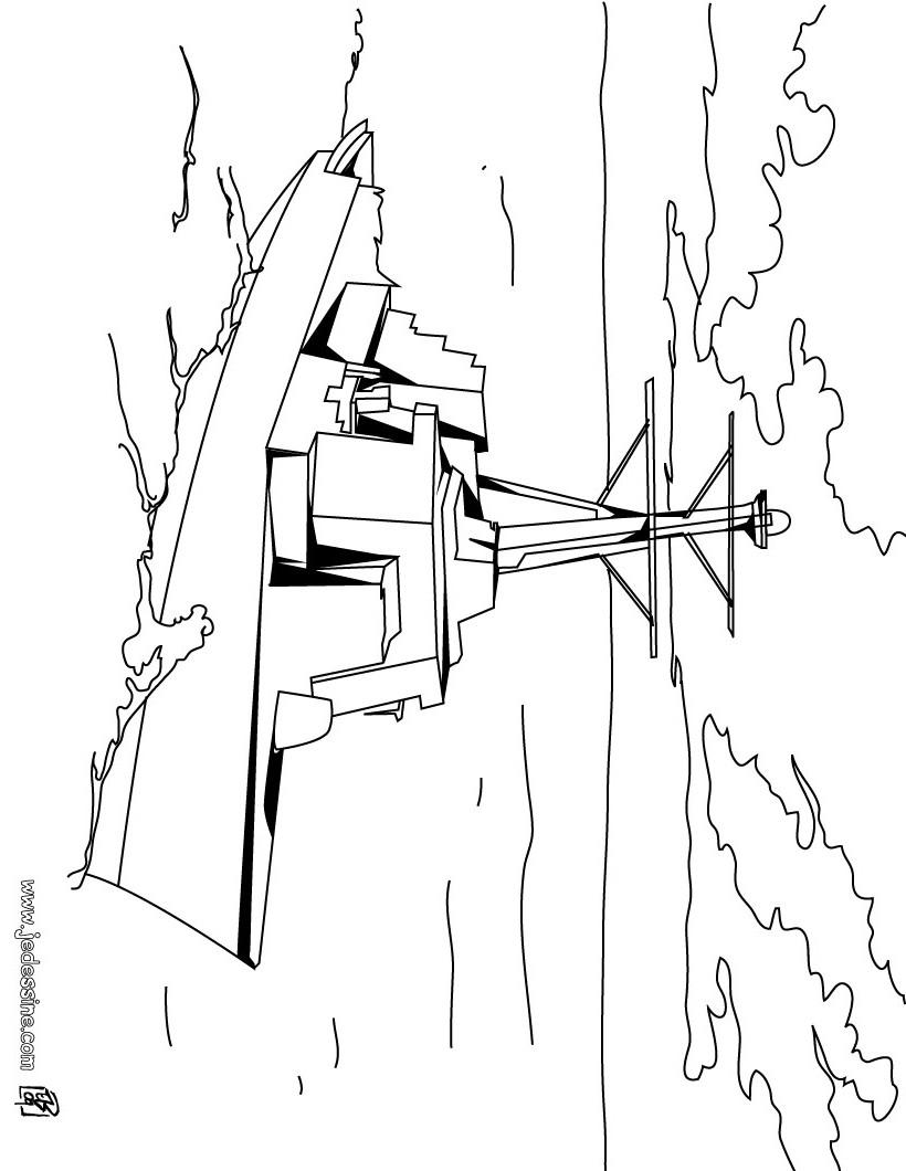 Dibujo de barco de guerra - Dibujos para colorear BARCOS