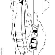 Dibujo de un barco a motor - Dibujos para Colorear y Pintar - Dibujos para colorear MEDIOS DE TRANSPORTE - Dibujos para colorear BARCOS