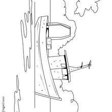 Dibujo de un barco de pesca - Dibujos para Colorear y Pintar - Dibujos para colorear MEDIOS DE TRANSPORTE - Dibujos para colorear BARCOS