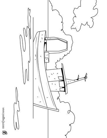 Dibujos para colorear barco de pesca - es.hellokids.com