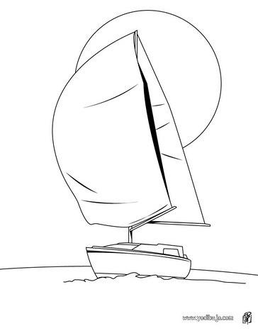 Dibujo para colorear : foque de un velero