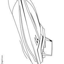 Dibujo de un barco fueraborde - Dibujos para Colorear y Pintar - Dibujos para colorear MEDIOS DE TRANSPORTE - Dibujos para colorear BARCOS