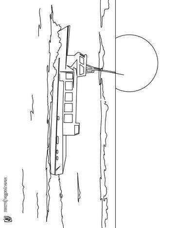 Dibujo para colorear : un crucero