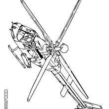 Dibujo helicoptero ultra veloz - Dibujos para Colorear y Pintar - Dibujos para colorear MEDIOS DE TRANSPORTE - Dibujos para colorear HELICOPTEROS