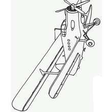 Dibujo de un avión biplano - Dibujos para Colorear y Pintar - Dibujos para colorear MEDIOS DE TRANSPORTE - Dibujos para colorear AVION
