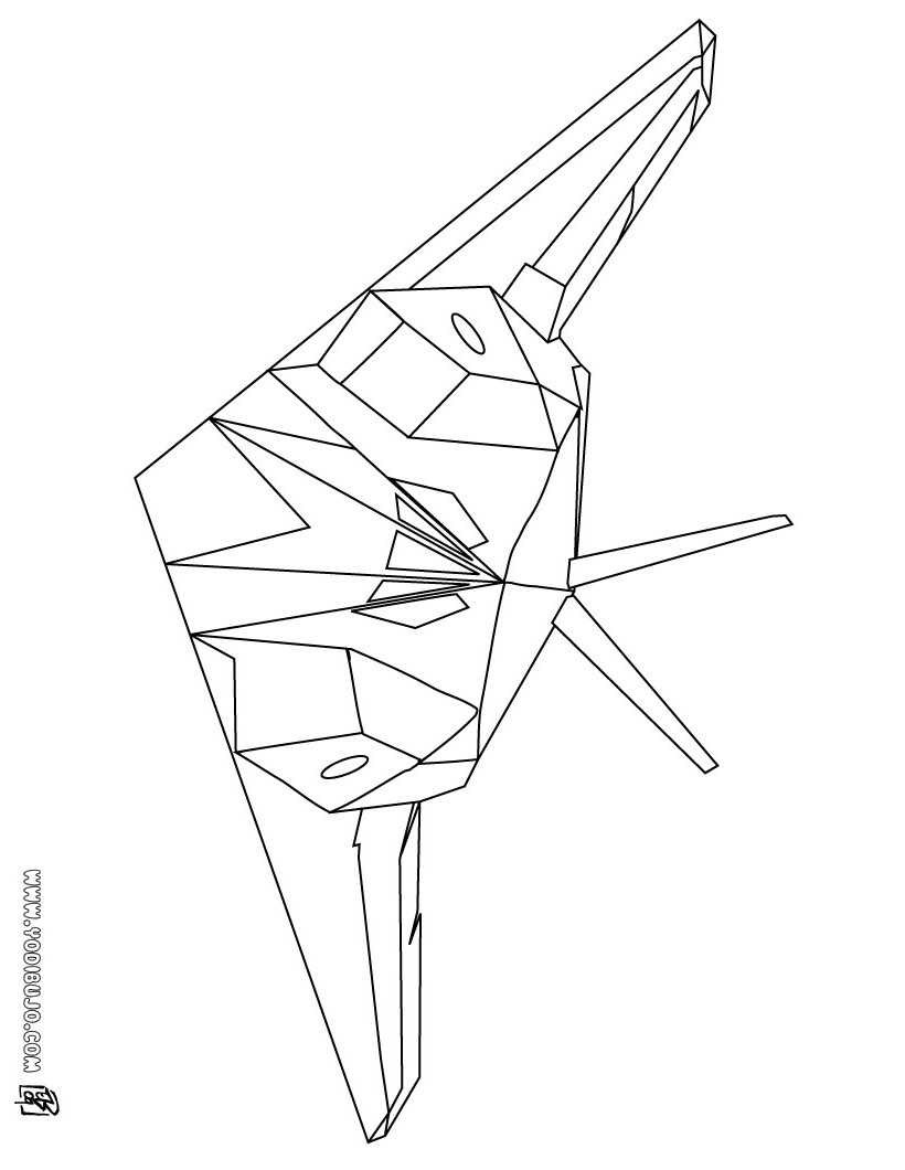 stealth bomber coloring pages - photo#31