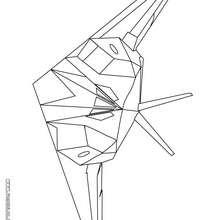 Dibujo avión furtivo - Dibujos para Colorear y Pintar - Dibujos para colorear MEDIOS DE TRANSPORTE - Dibujos para colorear AVION