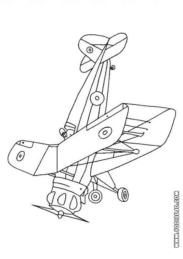Dibujo para colorear : un avión