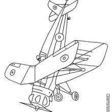 Dibujo de un avión - Dibujos para Colorear y Pintar - Dibujos para colorear MEDIOS DE TRANSPORTE - Dibujos para colorear AVION
