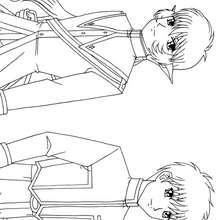Dibujo de personajes de Mew Mew - Dibujos para Colorear y Pintar - Dibujos para colorear MANGA - Dibujos para colorear MEW MEW POWER  - Dibujos infantiles para colorear MEW MEW POWER